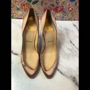 Christian Louboutin Pink blush satin heels